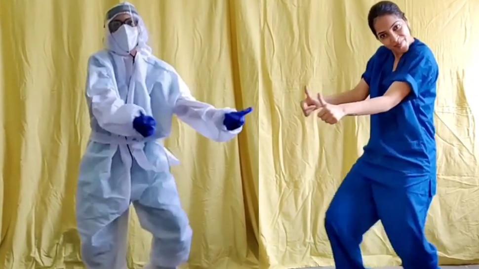 Viral Video: PPE കിറ്റില്, കൊറോണ വാര്ഡില് നിന്നും വനിതാ ഡോക്ടറുടെ 'പണിപാളി ചലഞ്ച്'