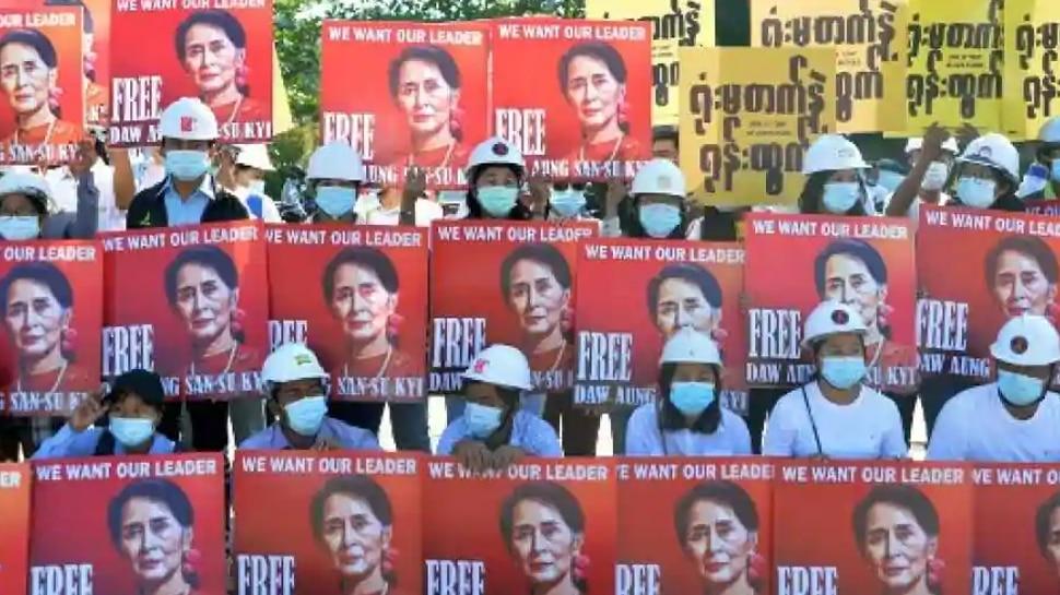 Myanmar Military Coup: Aung San Suu Kyi ക്കെതിരെ പുതിയ രണ്ട് ക്രിമിനൽ കേസുകൾ കൂടി; വീഡിയോ കോൺഫറൻസ് മുഖേനെ കോടതിയിൽ ഹാജരായി