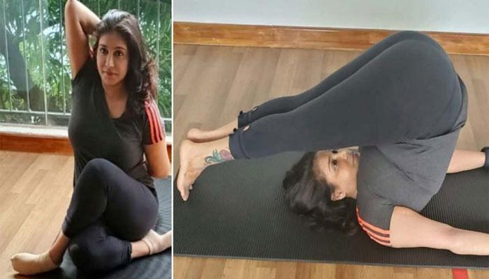 International Yoga Day 2021: യോഗ ദിനത്തിൽ ഞെട്ടിപ്പിക്കുന്ന മെയ് വഴക്കവുമായി പ്രിയ താരം ലിസി