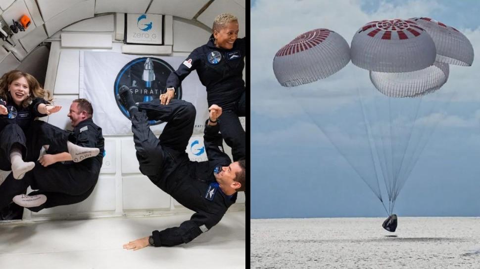 ചരിത്രമെഴുതി SpaceX; ബഹിരാകാശയാത്ര വിജയകരമായി പൂർത്തീകരിച്ച് നാലംഗ സംഘം മടങ്ങിയെത്തി