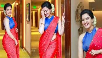 Honey Rose: പ്രേക്ഷകരുടെ മനം കവരാൻ ഹണി റോസ് വീണ്ടും സാരിയിൽ, ചിത്രങ്ങൾ വൈറലാകുന്നു