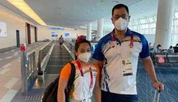 India welcomes Mirabai Chanu: ഒളിമ്പിക്സ് മെഡല് ജേതാവ് മീരാഭായ് ചാനു മടങ്ങിയെത്തി, ഹൃദ്യമായ സ്വാഗതം  നല്കി രാജ്യം