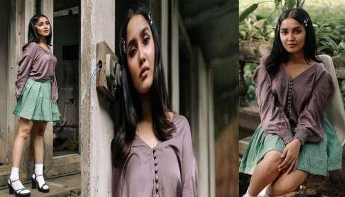 Anikha Surendran: കുട്ടിക്കുപ്പായത്തിൽ കിടിലം ലുക്കിൽ അനിഖ സുരേന്ദ്രൻ