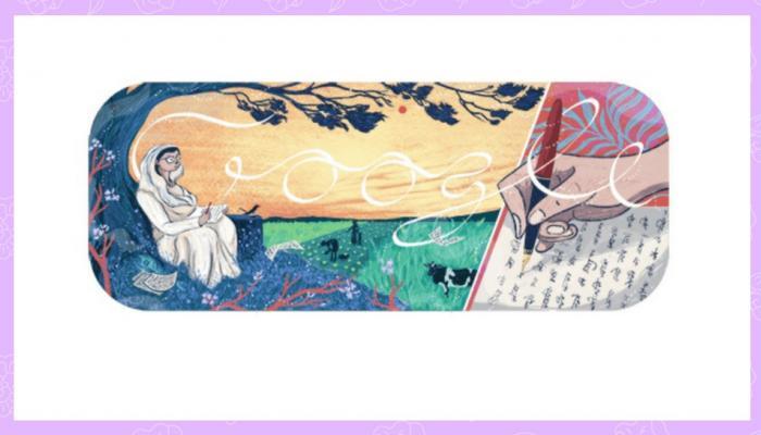 ലോകപ്രിയ കവയിത്രി മഹാദേവി വര്മ്മയെ ആദരിച്ച് ഗൂഗിള് ഡൂഡില്